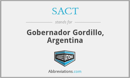 SACT - Gobernador Gordillo, Argentina