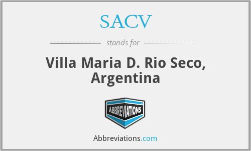 SACV - Villa Maria D. Rio Seco, Argentina