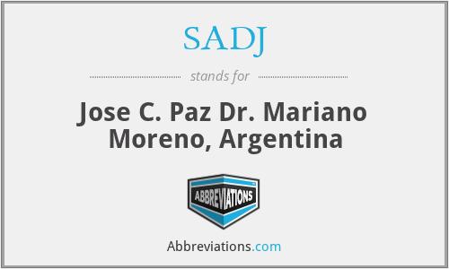 SADJ - Jose C. Paz Dr. Mariano Moreno, Argentina