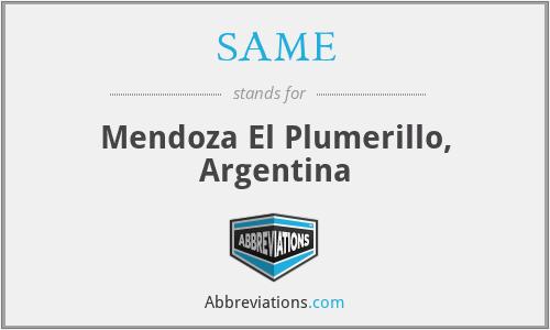 SAME - Mendoza El Plumerillo, Argentina