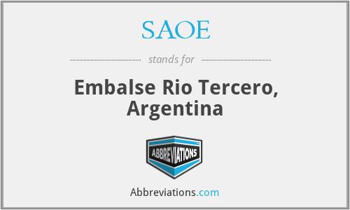 SAOE - Embalse Rio Tercero, Argentina