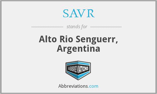 SAVR - Alto Rio Senguerr, Argentina