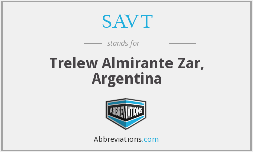 SAVT - Trelew Almirante Zar, Argentina
