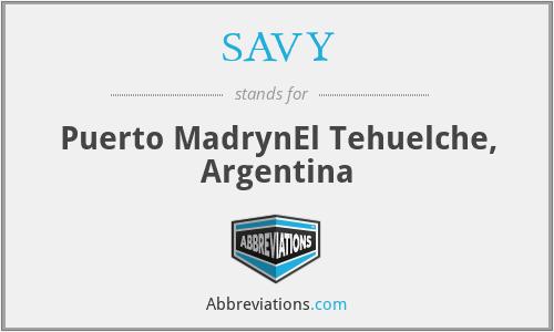 SAVY - Puerto MadrynEl Tehuelche, Argentina