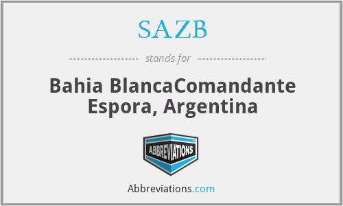 SAZB - Bahia BlancaComandante Espora, Argentina