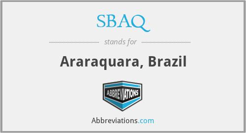 SBAQ - Araraquara, Brazil