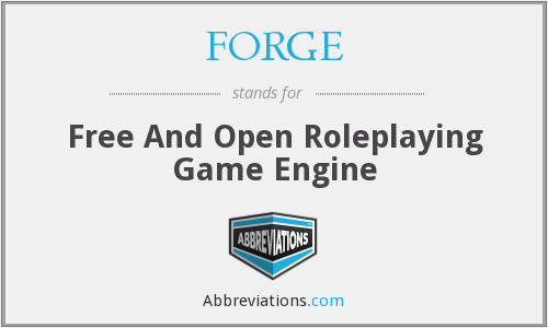 FORGE - Free And Open Roleplaying Game Engine