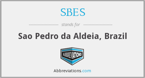 What does SBES stand for?