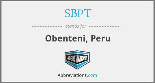 SBPT - Obenteni, Peru
