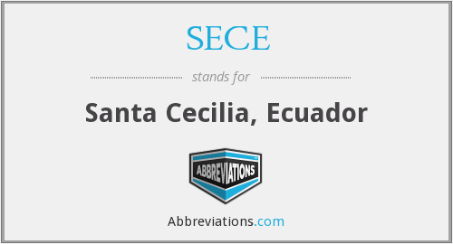 What does SECE stand for?