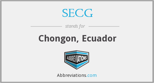 What does SECG stand for?