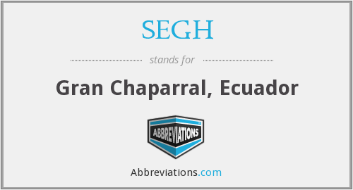 What does SEGH stand for?