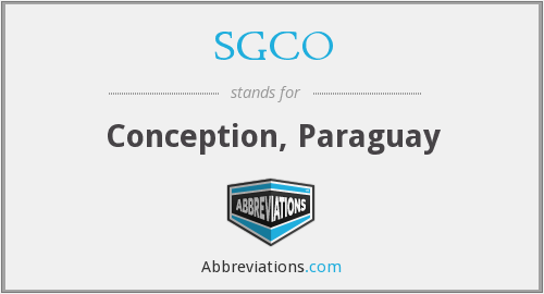 What does SGCO stand for?