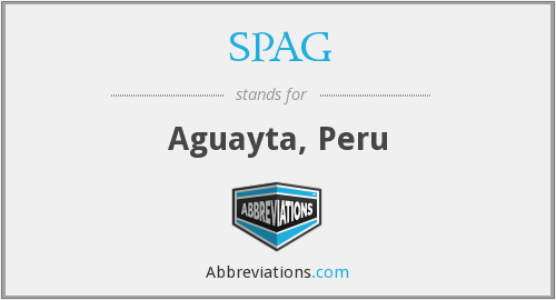 SPAG - Aguayta, Peru
