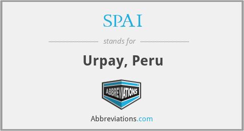 SPAI - Urpay, Peru