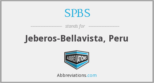 SPBS - Jeberos-Bellavista, Peru