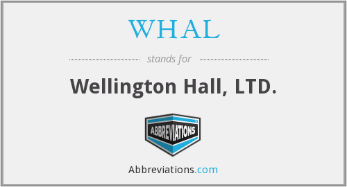 What does WHAL stand for?