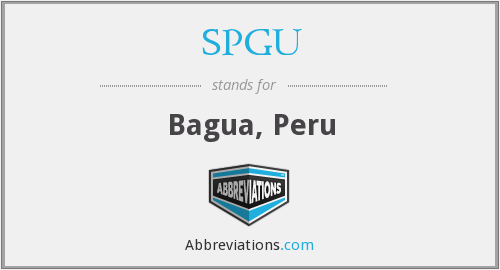 What does SPGU stand for?