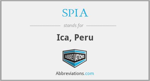 SPIA - Ica, Peru