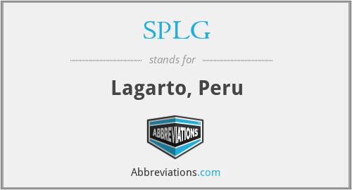 SPLG - Lagarto, Peru