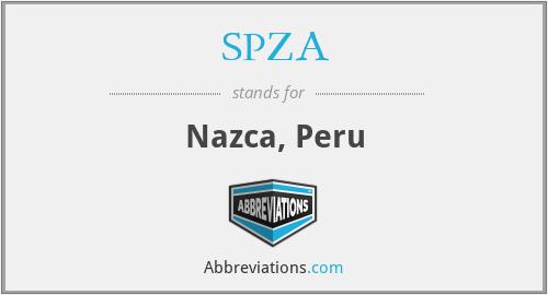 SPZA - Nazca, Peru