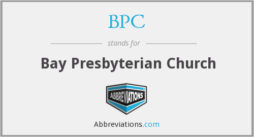 BPC - Bay Presbyterian Church