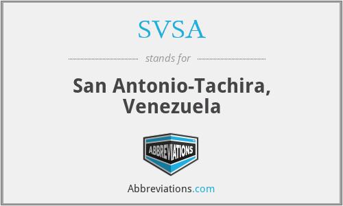 SVSA - San Antonio-Tachira, Venezuela