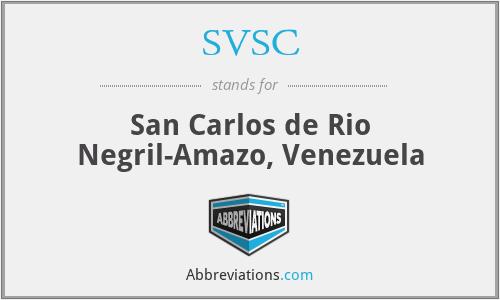 SVSC - San Carlos de Rio Negril-Amazo, Venezuela