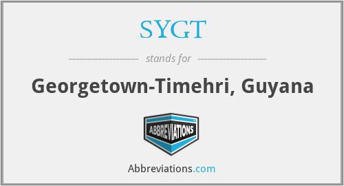 SYGT - Georgetown-Timehri, Guyana
