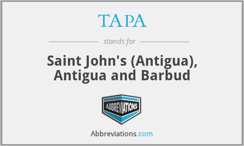 TAPA - Saint John's (Antigua), Antigua and Barbud