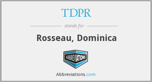 What does TDPR stand for?