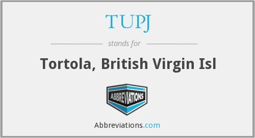 TUPJ - Tortola, British Virgin Isl