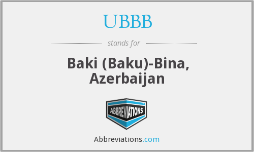 What does UBBB stand for?