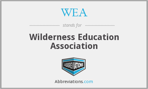 WEA - Wilderness Education Association