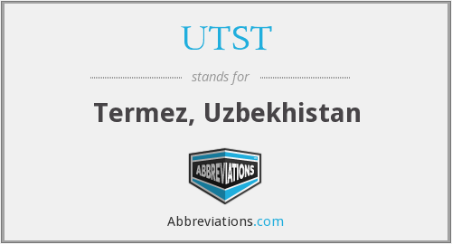 What does UTST stand for?