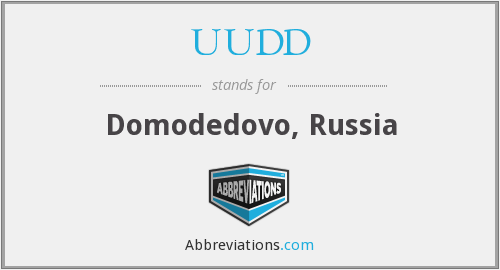 UUDD - Domodedovo, Russia