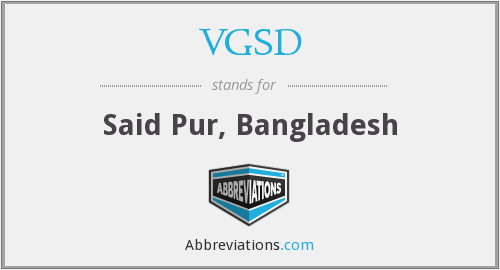 What does VGSD stand for?