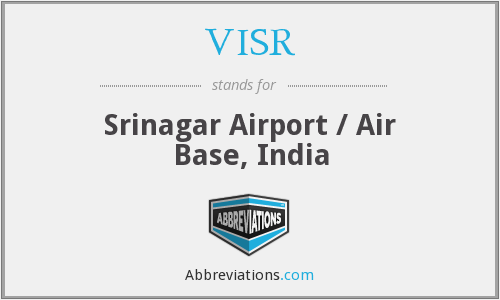 VISR - Srinagar Airport / Air Base, India