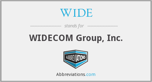 WIDE - WIDECOM Group, Inc.