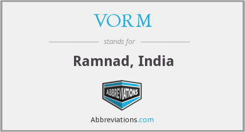 VORM - Ramnad, India