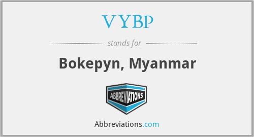 VYBP - Bokepyn, Myanmar