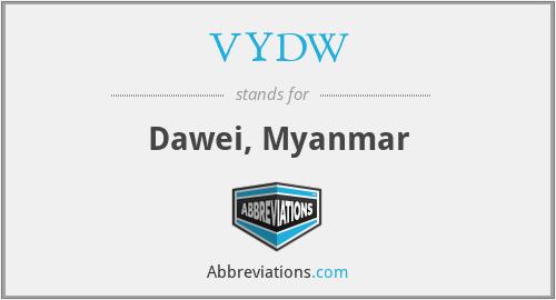 VYDW - Dawei, Myanmar