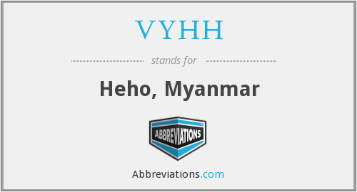 VYHH - Heho, Myanmar