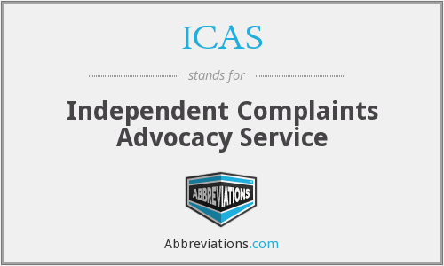 ICAS - Independent Complaints Advocacy Service