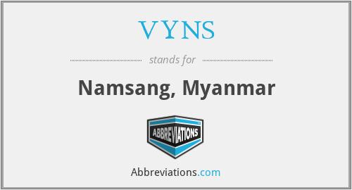 VYNS - Namsang, Myanmar