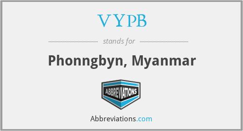VYPB - Phonngbyn, Myanmar