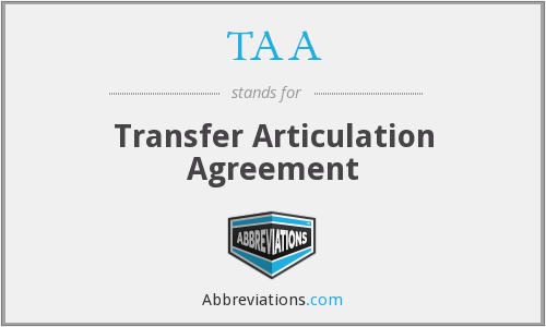 TAA - Transfer Articulation Agreement