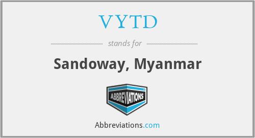 VYTD - Sandoway, Myanmar