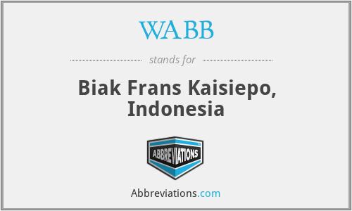 WABB - Biak Frans Kaisiepo, Indonesia