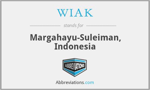 WIAK - Margahayu-Suleiman, Indonesia